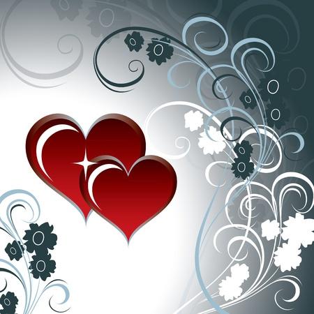 gray: Valentines Day Background