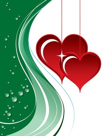 Valentines Day Background  Vector Illustration    Stock Vector - 17619329