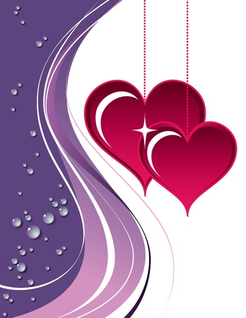 Valentines Day Background  Vector Illustration Stock Vector - 17619339