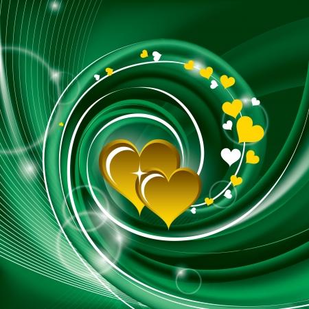 gold heart: Valentines Day Background