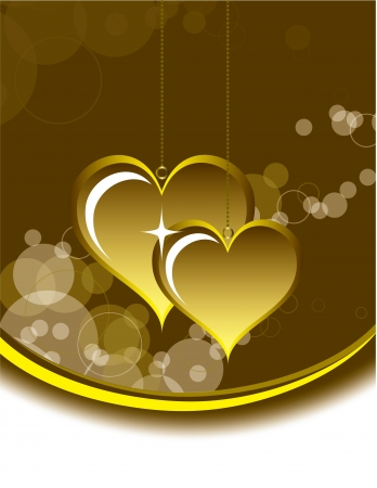 ornate heart: Valentines Day Background