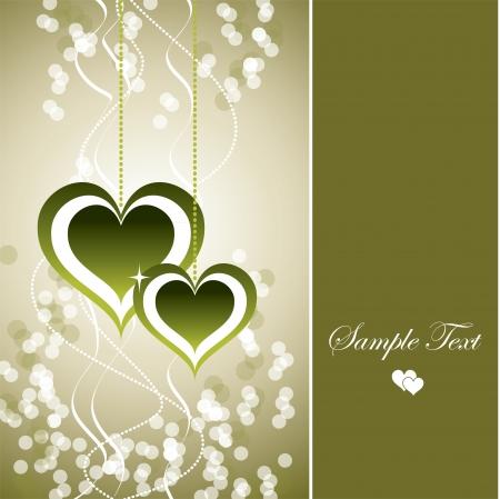 olive green: Valentine Hearts