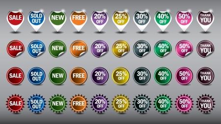 Set of Selling Badges  Vector Illustration Stok Fotoğraf - 17883646