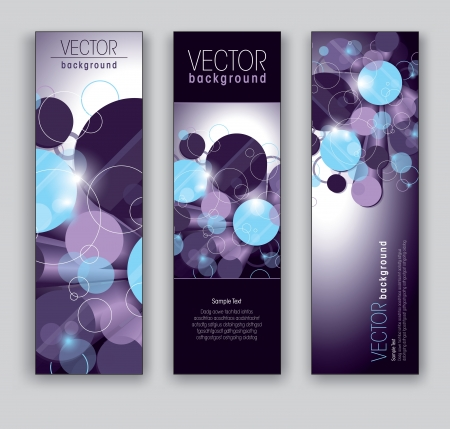 shiny background: Vector Banners  Abstract Backgrounds  Illustration