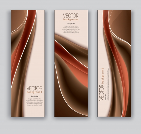 brown: Vector Banners  Abstract Backgrounds