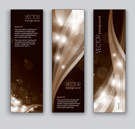 Vector Banners  Abstract Backgrounds  Çizim