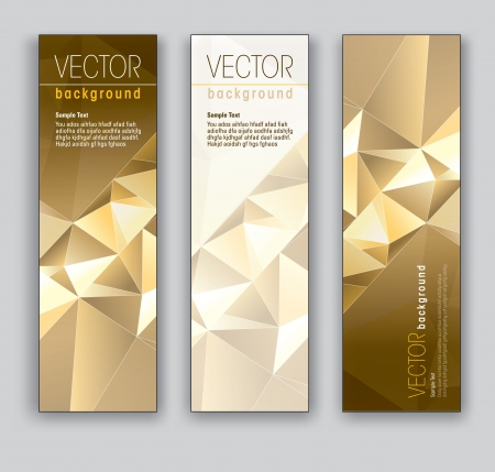 Banners  Abstract Backgrounds Vectores