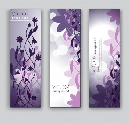 Banners  Abstract Backgrounds  Floral Theme  Ilustrace