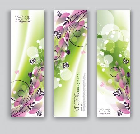 lineas verticales: Banners Abstractos Fondos tema floral
