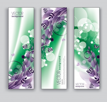 florish: Banners  Abstract Backgrounds  Floral Theme  Illustration