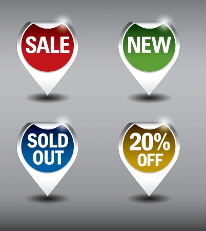 Round Labels or stickers for sale, 20  off, new and sold out items   Vector