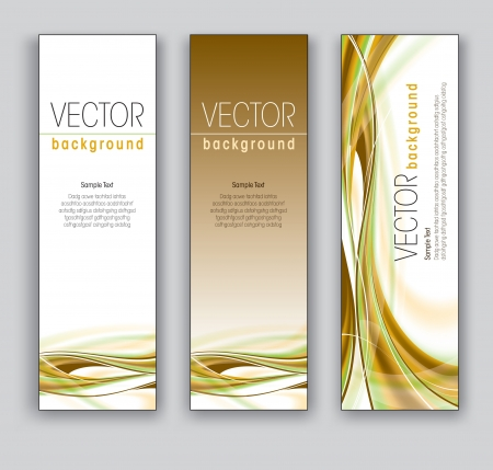 Vector Banners  Abstract Backgrounds Stok Fotoğraf - 18024028