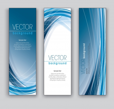 Vector Banners  Abstract Backgrounds  Illustration