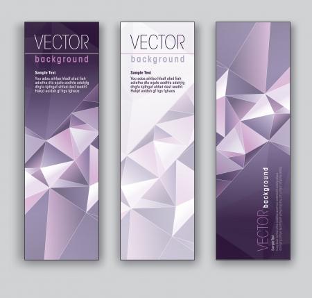 Vector Banners Abstracte Achtergronden