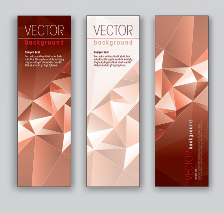 Vector Banners  Abstract Backgrounds  Stock Vector - 18024033