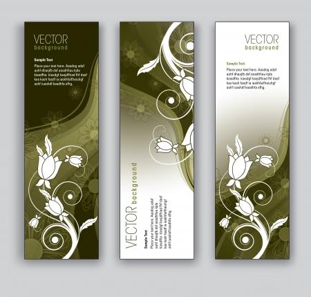 Vector Banners  Abstract Backgrounds  Иллюстрация