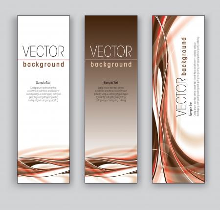 Vector Banners  Abstract Backgrounds  Ilustração