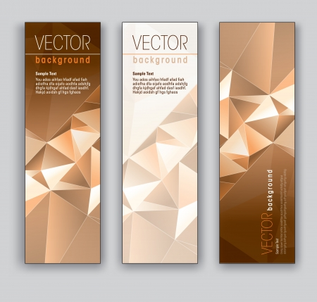 Vector Banners  Abstract Backgrounds  Stock Vector - 18138043