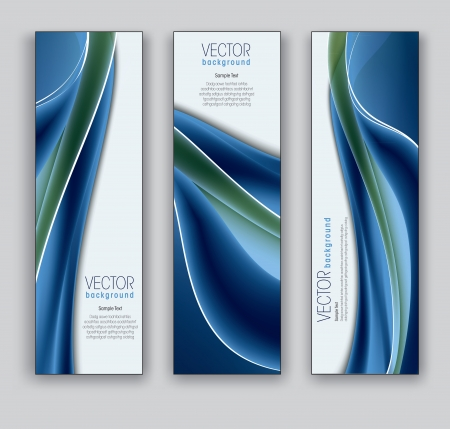 Vector Banners  Abstract Backgrounds  Иллюстрация
