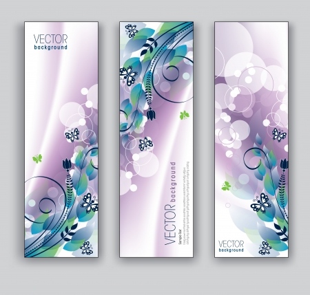 Vettoriale astratto banner Sfondi tema floreale