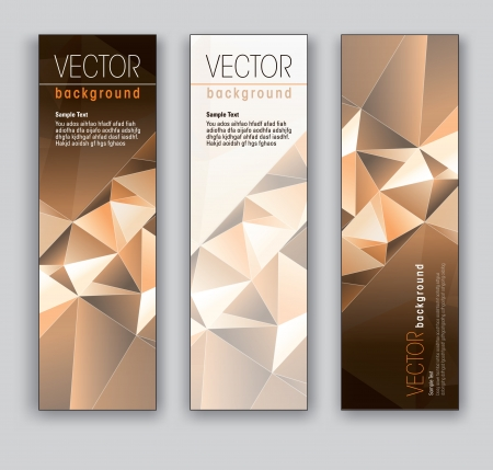 Vector Banners  Abstract Backgrounds   Stock Vector - 18238646