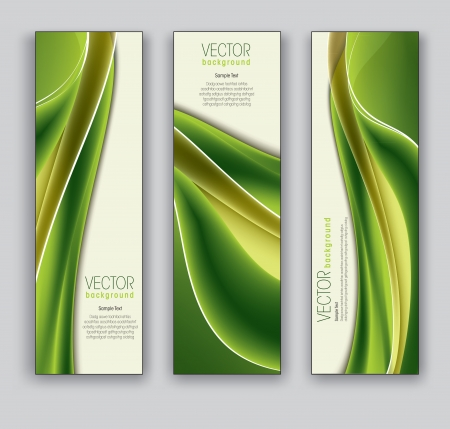 green swirl: Vector Banners  Abstract Backgrounds  Illustration