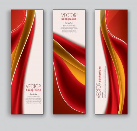 gradient: Vektorové Bannery abstraktní pozadí