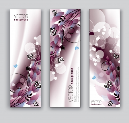 Floral Vector Banners  Abstract Backgrounds Stock Vector - 18270843