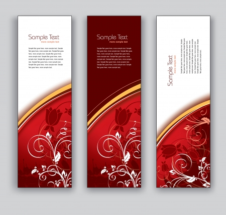 florish: Floral Vector Banners  Abstract Backgrounds  Illustration