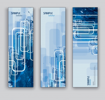 vertical banner: Vector Banners  Abstract Backgrounds  Eps10