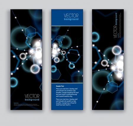 hi: Vector Banners  Abstract Backgrounds  Eps10