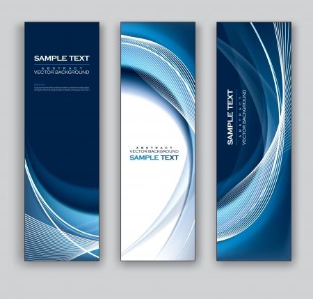 verticales: Banners vector Fondos