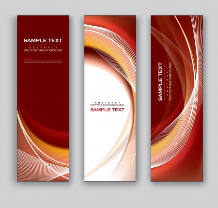 smooth curve design: Vector Banners  Abstract Backgrounds  Illustration