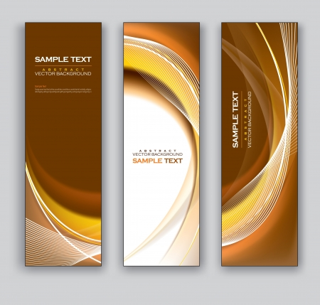 Banners  Abstract Backgrounds  Vector