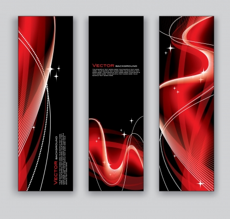 Vector Banners  Abstract Backgrounds  Ilustração