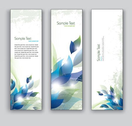 Floral Vector Banners  Abstract Backgrounds Stok Fotoğraf - 19410264