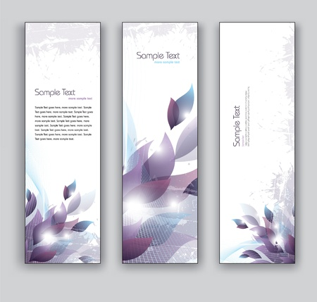 Floral Vector Banners  Abstract Backgrounds  Ilustração