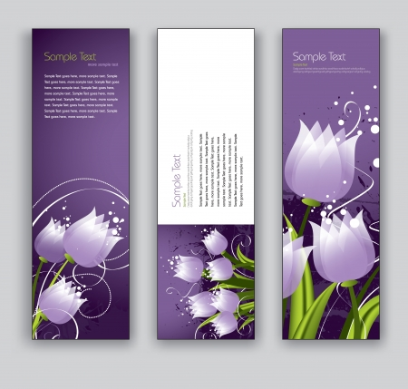 Floral Vector Banners  Abstract Backgrounds  Illustration