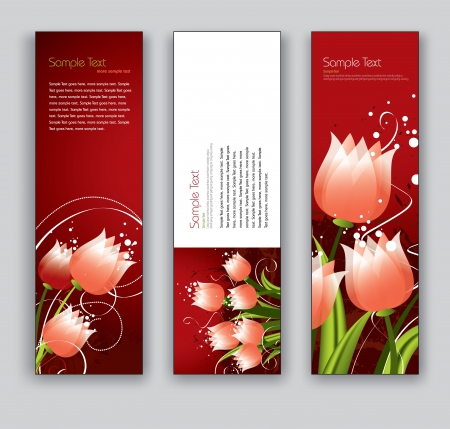 Floral Vector Banners  Abstract Backgrounds  Çizim