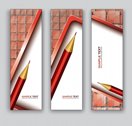 website header: Abstract Banners With Pencil