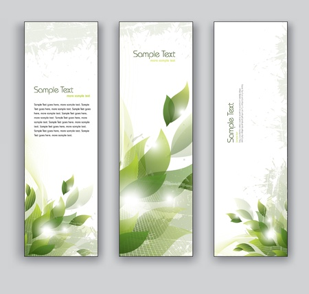 Banners  Abstract Backgrounds  Floral Theme  Ilustração