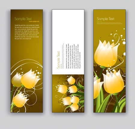 bookmark background: Banners  Abstract Backgrounds  Floral Theme  Illustration