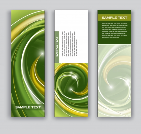 green swirl: Abstract Banners  Backgrounds