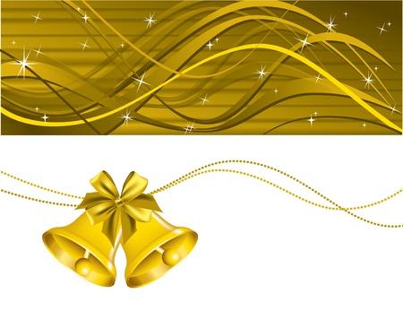 campanas: Antecedentes de Navidad ilustraci?n vectorial Vectores