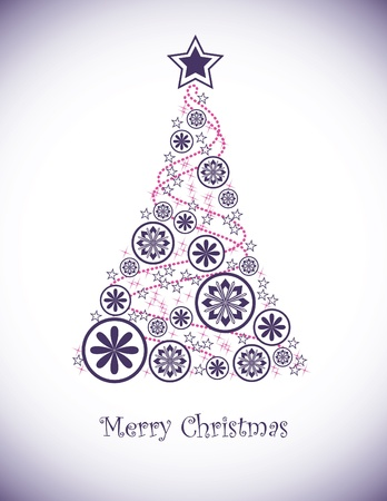 christmas tree purple: Christmas Background  Vector Illustration  Illustration