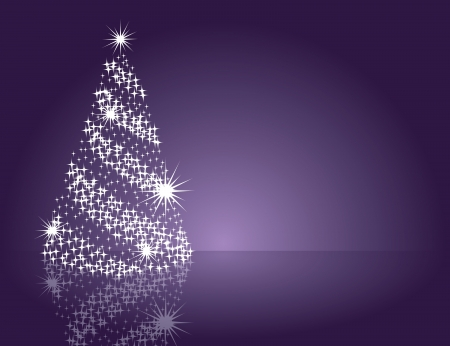 purple stars: Christmas Background  Vector Illustration  Illustration