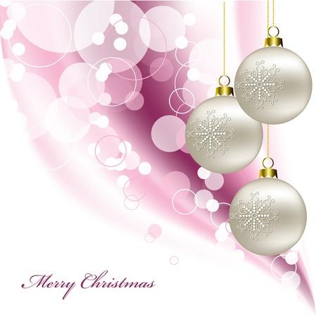 ornamented: Christmas Background  Vector Illustration  Illustration