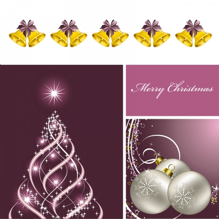 x mas: Christmas Background  Vector Illustration  Illustration