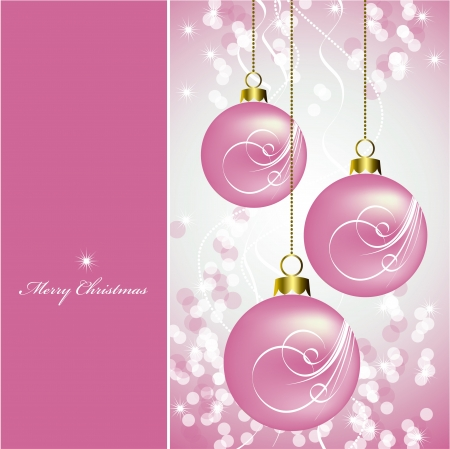pink bubbles: Christmas Background  Vector Illustration  Illustration