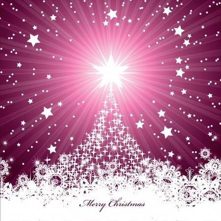 winter tree: Christmas Background  Vector Illustration  Illustration